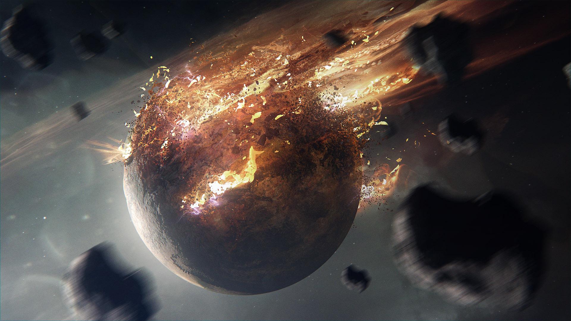 Erupting Planet